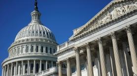 The U.S. Capitol dome and U.S. Senate in Washington